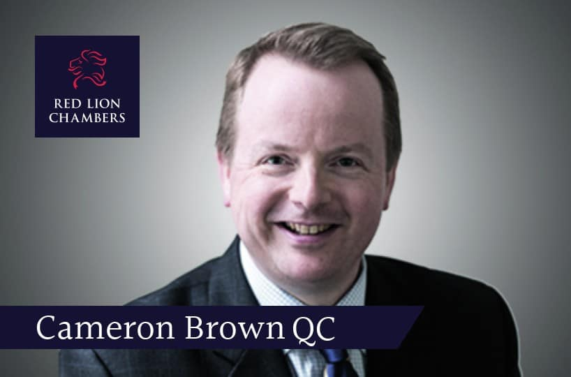 Cameron Brown QC writes for Law 360
