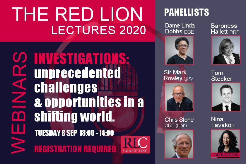 Investigations: unprecedented challenges and opportunities in a shifting world (Recording available)