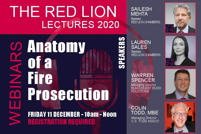 Anatomy of a Fire Prosecution (Recording restricted)