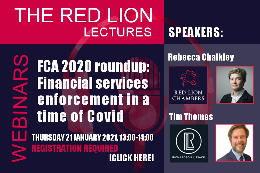 FCA 2020 roundup: Financial services enforcement in a time of Covid (Recording available)