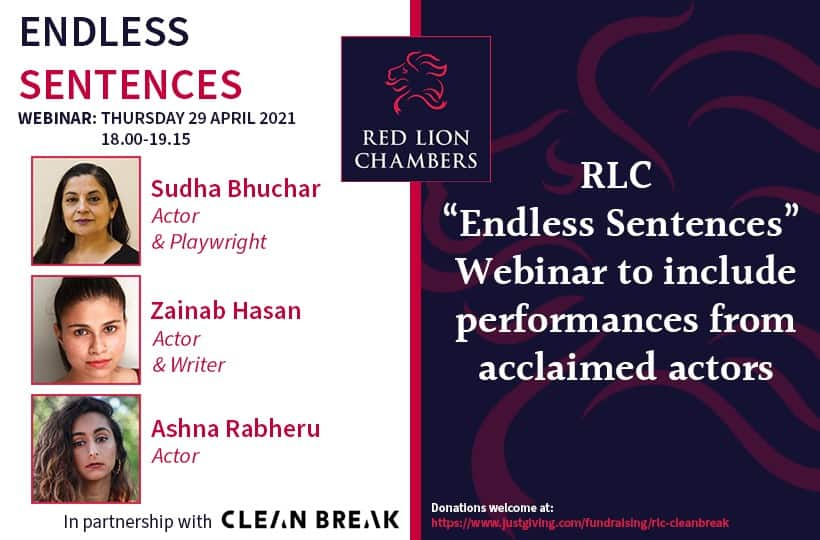 """RLC """"Endless Sentences"""" Webinar to include performances from acclaimed actors"""