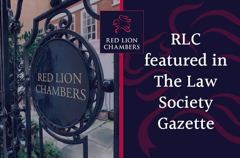 RLC featured in The Law Society Gazette