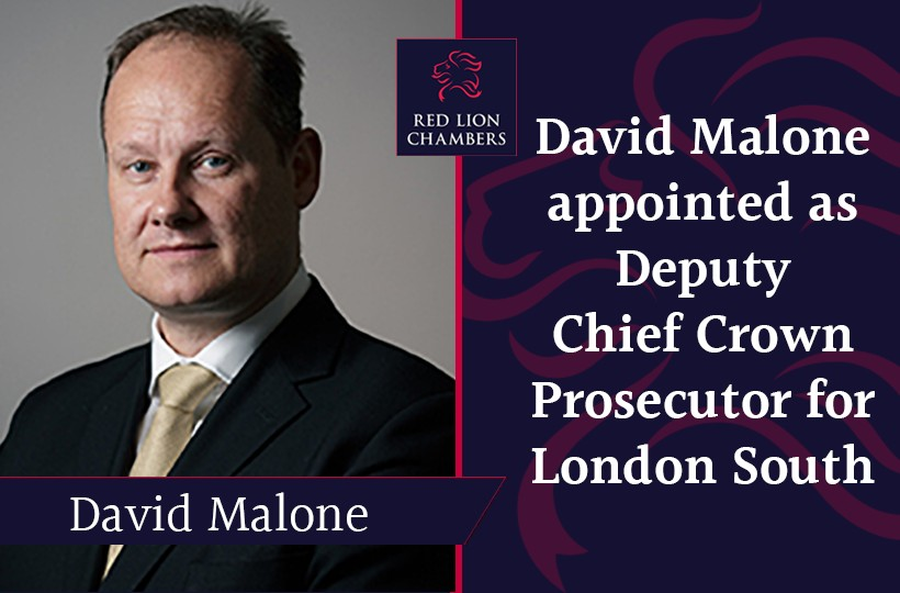 David Malone appointed as Deputy Chief Crown Prosecutor for London South