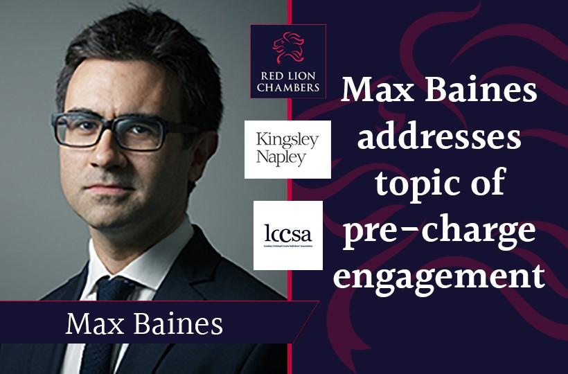 Max Baines addresses topic of pre-charge engagement