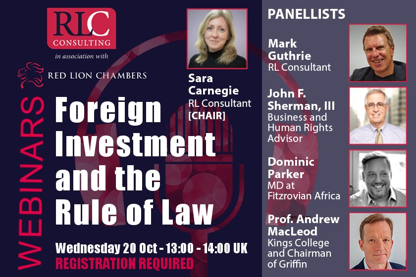 Red Lion Consulting: Foreign Investment and the Rule of Law