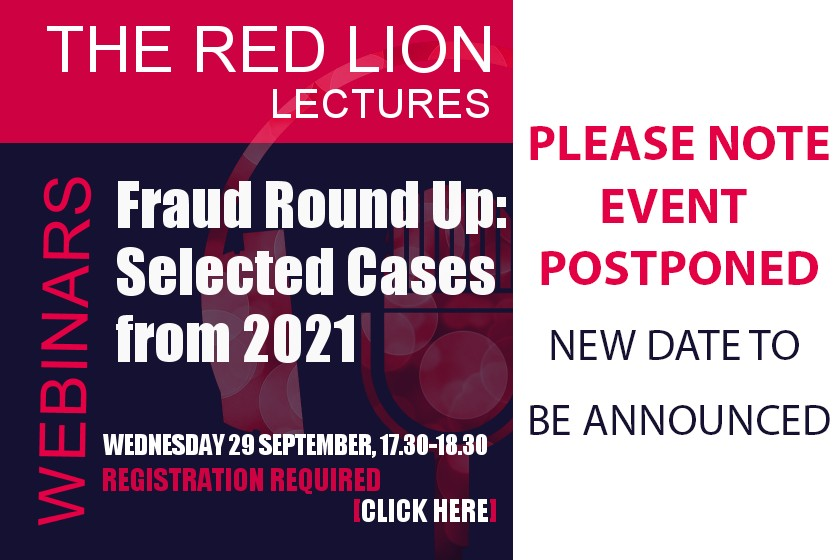 **POSTPONED - NEW DATE TO BE ANNOUNCED** Fraud Round Up: Selected Cases from 2021