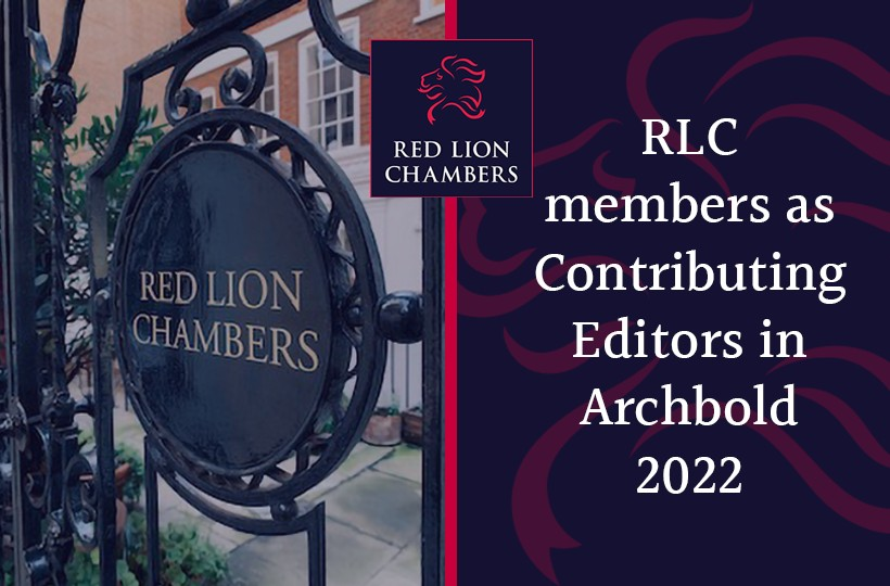 RLC members as Contributing Editors in Archbold 2022